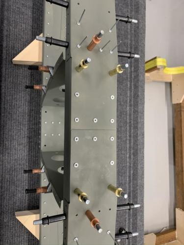 HS - Front Spar Channel and Doubler Plates Riveted