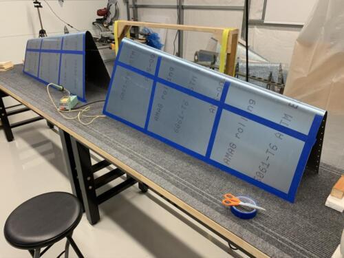 Masking rivet lines