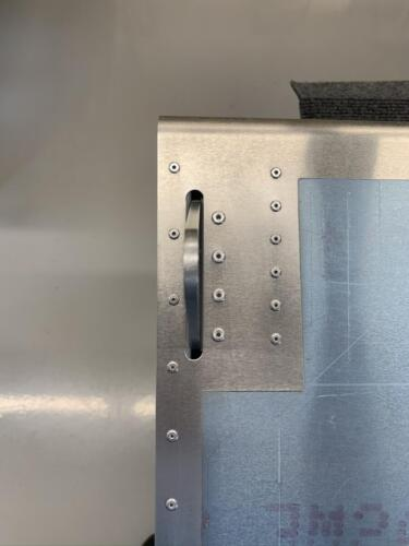 RH Flap Hinge Bracket Riveting Completed with 3,2 and 4,0mm Rivets