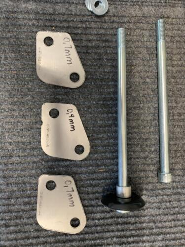 Laser-cut Stainless Steel Shims and M10 Bolts