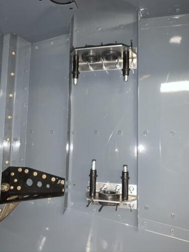 Initial Fit of Rudder Pedal Bearing Brackets on LH of CF