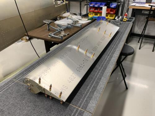 LH Aileron and Skin - Final Fit