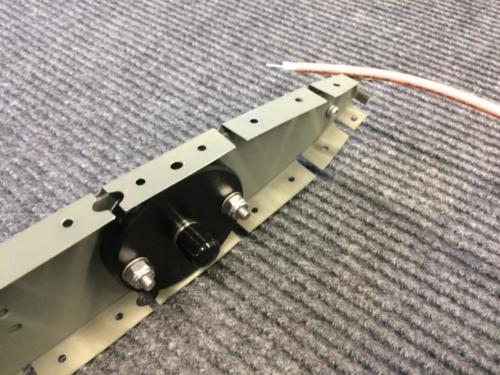 Antenna base permanently mounted - ready for coax and BNC