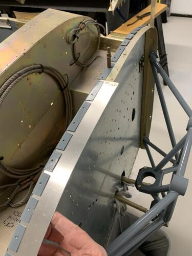 Wider Cowling Fastener Strip in Position