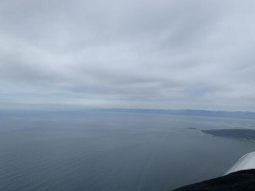 Cape Flattery, WA looking North to Vancouver Island, BC (Canada)